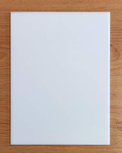Placa de Metacrilato Blanco Opal 3 mm | Plancha Lámina de Plástico Rígido Blanco (1 UD, A2-42x59,4 cm)