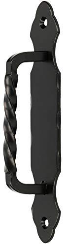 KOTARBAU® Türgriff 190 mm Schmiedeeisen Türklinke Handgriff Schwarz Torgriff Stahltürzug Haltegriff Griff Türbeschlag Torbeschlag Schiebtür Möbelgriff