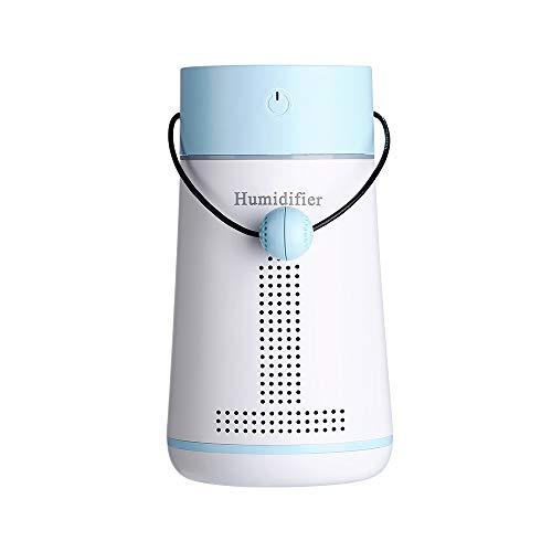 Sunshine Home & 3 humidificador de niebla fría ultrasónico 250 ml viene con un espejo de maquillaje, tablero de mensajes, 7 luces de atmósfera de color, protección contra fallos de energía, azul