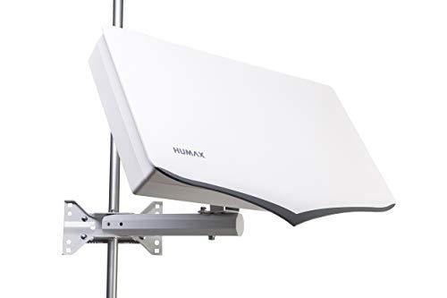HUMAX Digital H40D4 Flat Spiegel SAT Flachantenne für 4X Teilnehmer weiß