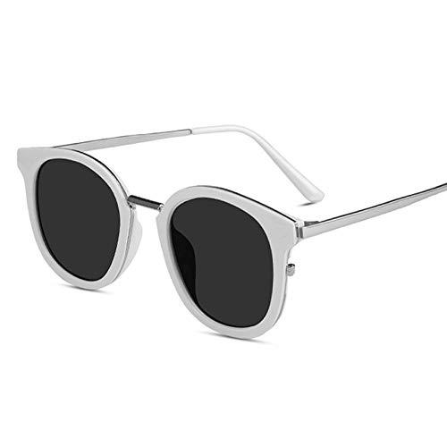 HZFZ Gafas De Sol Gafas Redondas Gafas De Sol Retro Mujer