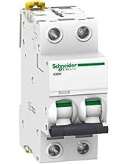 Schneider Electric A9F74201 Interruptor Automático Magnetotérmico Ic60N, 2P, 1A, Curva C