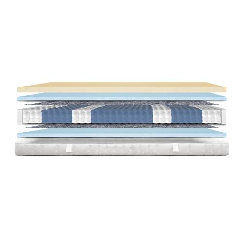 AM Qualitätsmatratzen - Latex-Matratze 100x200cm - H2 - Latex-Taschenfederkernmatratze - Matratze mit integrierter 4cm Latex-Auflage - 24cm Höhe - Made in Germany