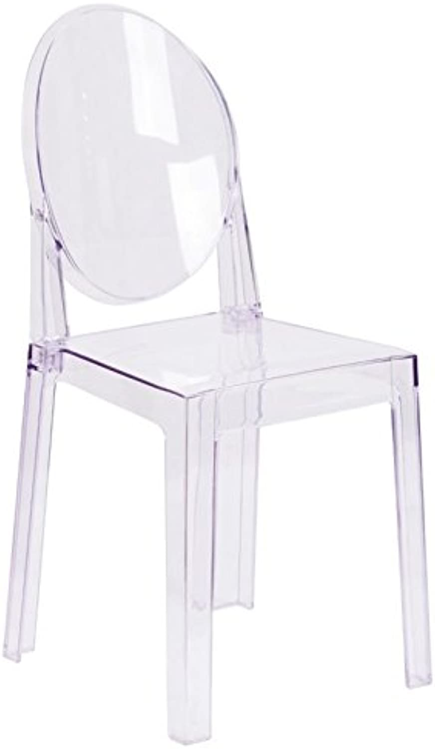 Bowery Hill Oval Back Ghost Chair in Transparent Crystal