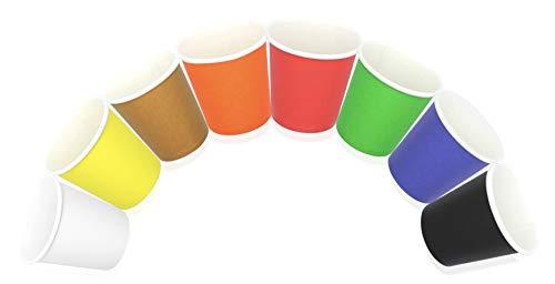 Cocobanana Bicchierini di Carta da 75ml, Monouso, Compostabili - Cartone Per Uso Alimentare, Inodore e Insapore - Bicchieri Piccoli per Bevande Calde e Fredde, Caffè, Espresso (Multicolore, 400)