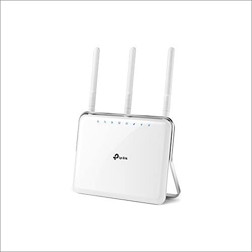 TP-Link Archer C9 Dual Band WLAN Router (1300Mbit/s (5GHz) + 600Mbit/s (2,4GHz), 4 Gigabit LAN Port, 1GHz Dual-Core Processor, USB 3.0 + 2.0 Ports, Print/Media/FTP/Server, App Steuerung) weiß