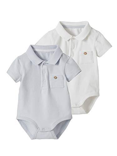 VERTBAUDET 2er-Pack Baby Polo-Bodys für Neugeborene pack weiß 62