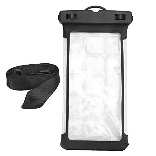 FOLOSAFENAR Bolsa Seca subacuática, Carcasa Lateral Lisa para teléfono Diseño de Doble Cara Diseño Resistente a la compresión para Tomar fotografías para el teléfono(Black)