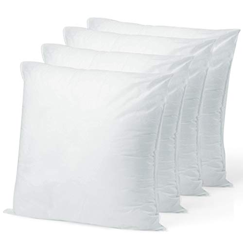 """Pillow Insert 19"""" x 19"""" Polyester Filled Standard Cover (4 Pack)"""