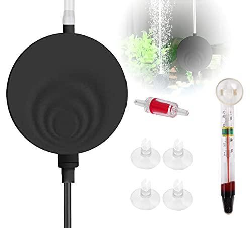 ARTDER Superleise Superminiluftpumpe mit elektromagnetische Welle, 1W leise und leistungsstark Sauerstoff-Pumpe 50~100 Liter,Leise Luftpumpe für das Aquarium,Geräusch niedriger als 38db. (Schwarz)