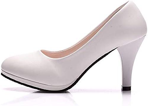 FLYRCX Tête Ronde Noire Les Les dames Chaussures Chaussures Simples Talons Hauts Mode Chaussures de Travail de Bureau Confortables Chaussures Simples  coloris étonnants
