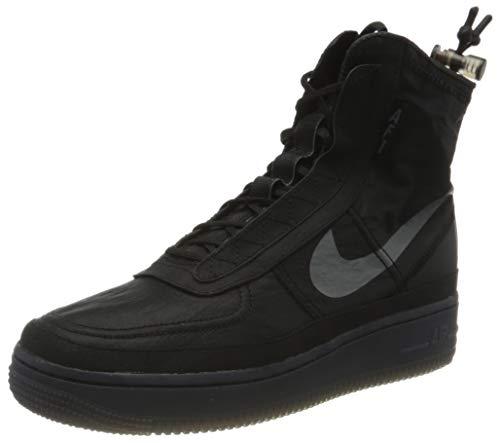 Nike W AF1 Shell, Scarpe da Basket Donna, Black/Dark Grey-Black, 44.5 EU