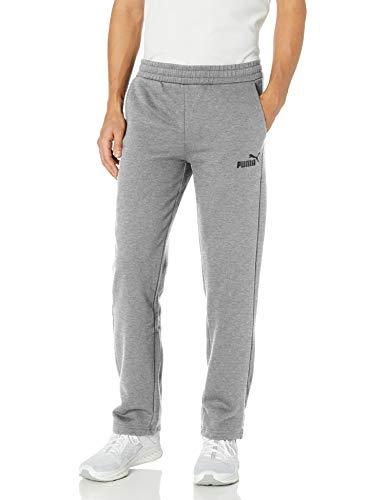 PUMA Men's Essential Logo Sweat Pants, Medium Gray Heather, S