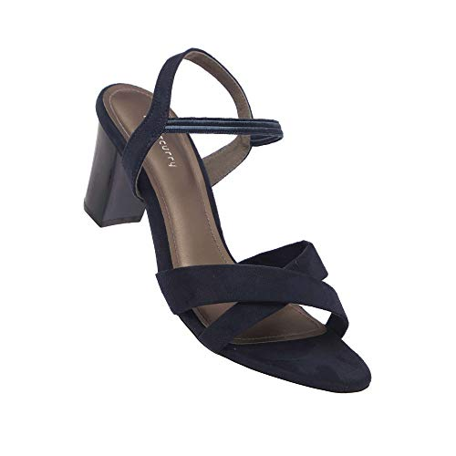 Haute Curry by Shoppers Stop Womens Slipon Heels (Navy_39)