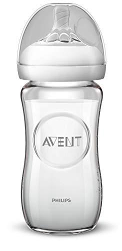 Philips Avent SCF053/17 - Biberón natural de cristal, 240 ml