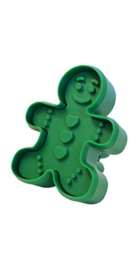 R&M International 0462 - Sello para galletas (doble cara, 8,9 cm), Chico/Hombre de jengibre, Verde, One (1) Double-Sided Stamper, 1