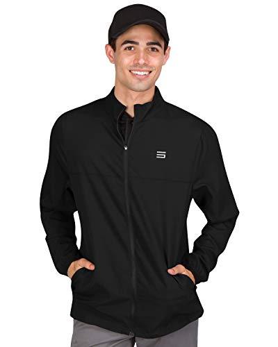 Mens Windbreaker Jackets - Zippered Golf Wind Breaker Jacket - Vented, Dry Fit