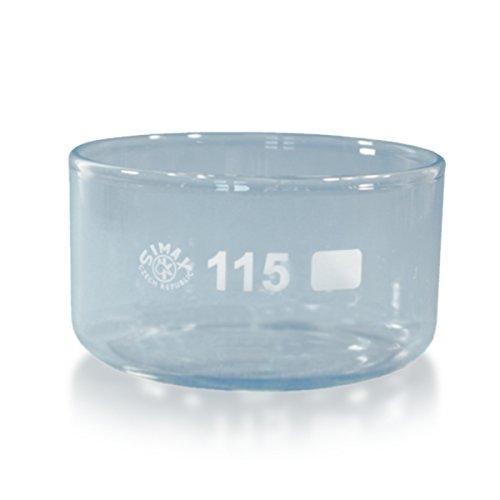 1 x Kristallisierschale 500 ml aus Borosilikatglas 3.3 ohne Ausguss DIN 12337 - Höhe 65 mm - Ø 115 mm - Abdampfschale