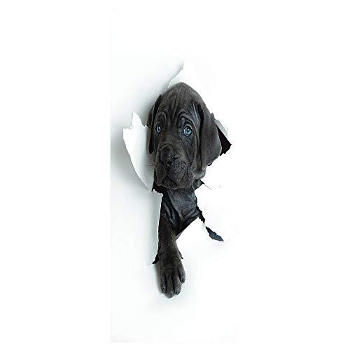 REXZIUI Romper la pared Etiqueta de la puerta pvc impermeable autoadhesivo 3D creativo 86*200cm - papel de aluminio para puerta póster papel tapiz calcomanías de pared