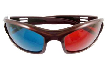 3D Red-blue / Cyan Anaglyph Simple style Glasses movie game-Extra Upgrade Style