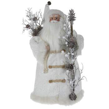 White Winter Suit Santa Claus Tree Topper Christmas Home Decoration