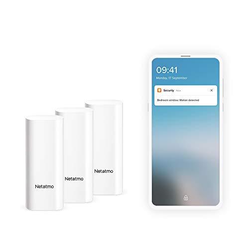 NETATMO Sensores inteligentes para puertas y ventanas, inalámbricos, una sola pieza, 3 unidades, detección de vibraciones