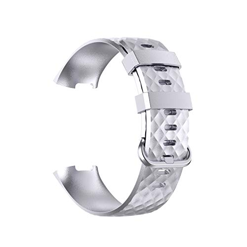 AISPORTS Paquete de 5 correas compatibles con Fitbit Charge 4/Fitbit Charge 3 de silicona para mujeres y hombres, correa de repuesto para Fitbit Charge 4/Charge 3