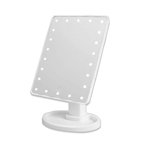 JTOOYS Make-up-Spiegel mit LED-Lichtern, 22 LED-Lichtern, Kosmetikspiegel mit Touchscreen, 180 ° freie Drehung, batteriebetrieben, hochauflösende Klarheit, Kosmetikspiegel