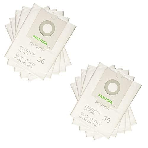 LongRong 10 Bolsas de Filtro autolimpiables, scfis-CT 36 par