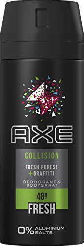 Axe Desodorante en spray Collision Fresh Forest y Graffiti sin sales de aluminio, 150 ml, 3 unidades (3 x 150 ml)