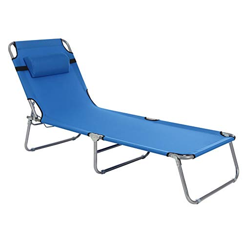 Wenzhihua Plegables Sillas Plegables Tumbona reclinable for la Playa Patio Jardín Camping al Aire Libre Jardín Tumbona Camping al Aire Libre (Color : Navy, Size : 193cmx63cmx30cm)