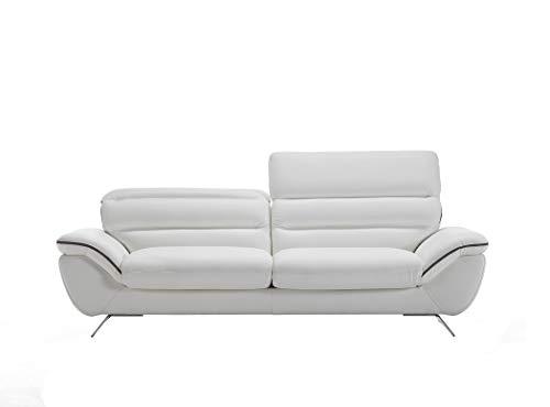 Satis Sofá moderno modular de 3 plazas Maxi de 246 cm, de piel auténtica, reposapiés ajustables a medida, varios colores