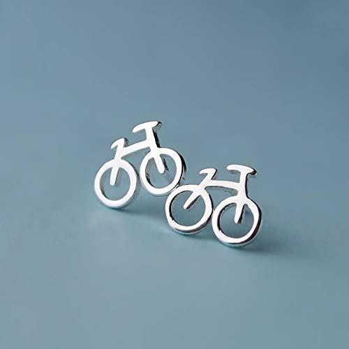 XIANNVQB Silberne Ohrringe,925 Sterling Silber Nadel Temperament Süße Fahrrad Ohrringe Frauen Persönlichkeit Ohrringe Wilde Hipster Einfache Ohr Schmuck Geschenk