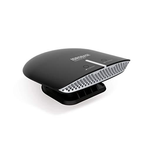 IDROBASE BKM Mobile 2.0 Nero, purificatore aria multifunzione per casa, ufficio, auto: purificatore d'aria tramite fotocatalisi e ionizzazione + generatore di ozono. Elimina odori e batteri.