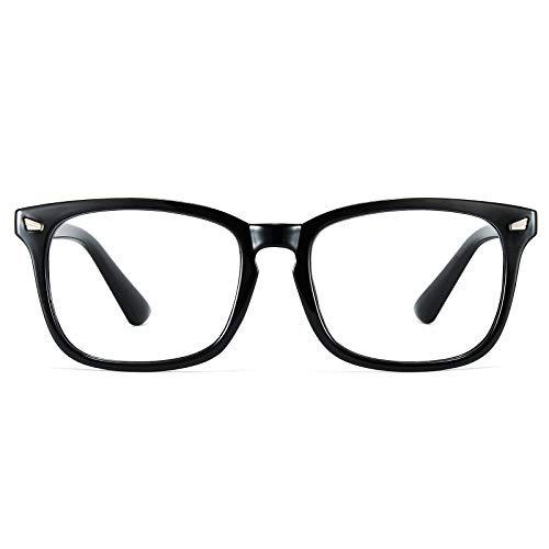 Cyxus Technology Group Ltd Cyxus Blaulichtfilter Brille Herren/Damen, Computer Laptop Gaming Brille, UV Schutzbrille gegen Kopfschmerzen, Klassisches Schwarzes Rahmendesign, Geschenke für Männer Frauen