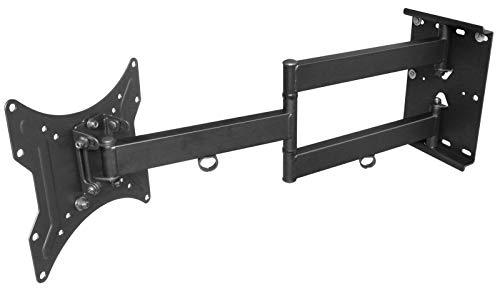 DRALL INSTRUMENTS Universal TV Wandhalterung für 16-40 Zoll (39,6-101,6 cm) - Ausziehbar bis 65 cm Schwenkbar Neigbar - Halterung für LED LCD 3D HD Plasma Fernseher - VESA 100 200 schwarz Modell: L22B