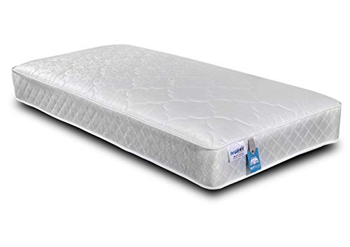 BEDZONLINE Single Mattress, 3ft Memory Foam Mattress, Sprung Single Mattress With Memory Foam And A Deluxe Knitted Micro Quilted Stretch fabric sprung Mattress