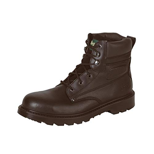 Hoggs Of Fife Mens Classic Lace Up Steel Toe/Midsole S1P Safety Work Boots