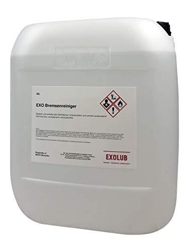EXOLUB Bremsenreiniger Montagereiniger Entfetter ACETONFREI 30L Kanister 30 Liter | Säuberung und Entfettung Aller Oberflächen | schnelle Verdampfung