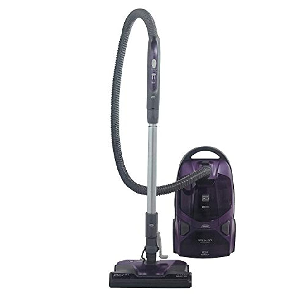 Kenmore 81614 Pet Friendly Lightweight Bagged Canister Vacuum with Pet PowerMate, HEPA, Extended Telescoping Wand, Retractable Cord, 2 Floor Nozzles and 3 Cleaning Tools-Purple