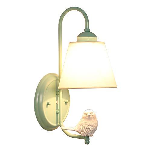 YISHENG Candelabros de pared Nórdico minimalista de pared decorativos linterna, Idílico Bird lámpara de pared, habitación de los niños Salón Dormitorio de noche restaurante moderno ligero de la pared