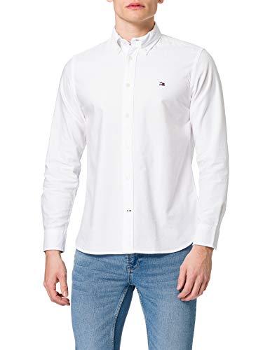 Tommy Hilfiger Herren Classic Oxford Shirt Hemd, weiß, L