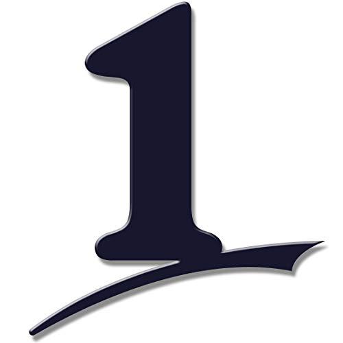 Hausnummer anthrazit 7016 matt/schwarz oder weiß glänzend (Nummer 1-16cm hoch) 6mm starke hausnummern anthrazit, hausnummer ral7016, rostfrei/wetterfest, inkl. Befestigung-Set Schablone