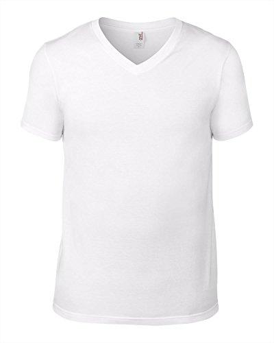 Anvil - T-shirt - Homme - Blanc - Blanc - Large