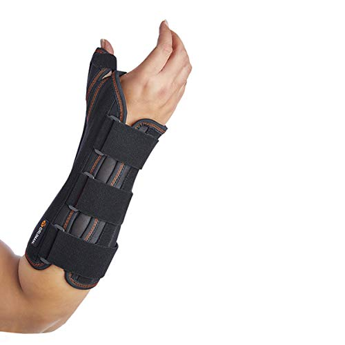 Muñequera con férula palmar y de pulgar rígida Orliman OPL352D mano derecha