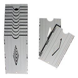 Kartenhalter für 10 Stempelkarten - erweiterbar - Kunststoff   Zeiterfassung   Stempeluhr
