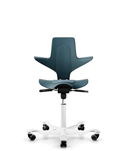 HAG Capisco Puls 8010 Stuhl – Petroleum Farbe - weiße Basis