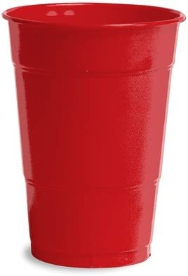 Ranking TOP15 Club Pack of 240 Classic Red Max 58% OFF Plastic T Party Drinking Disposable