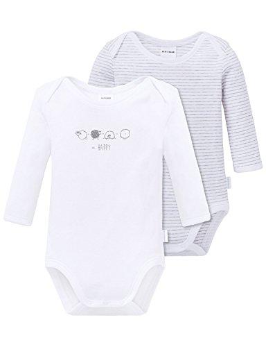 Schiesser Baby-Jungen 2pack Bodies 1/1 Body, Mehrfarbig (sortiert 1 901), 80 (Herstellergröße: 080) (2er Pack)