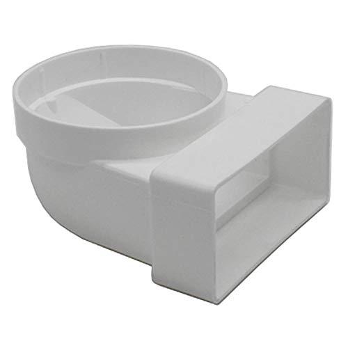 Kair 110mm x 54mm rectangular a redondo (100mm espiga hembra) 90Degree Bend–SYS-100–DUCVKC236